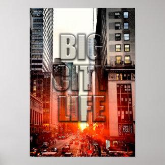 Big City Urban Life Poster