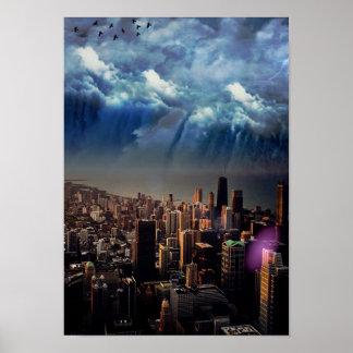 Big City Urban Lights Poster