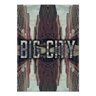 Big City USA Upside Urban Buildings Modern Spring Poster