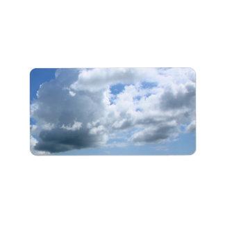 Big clouds l address label