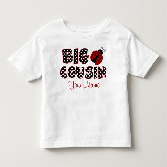 Big Cousin Ladybug Personalised Shirt