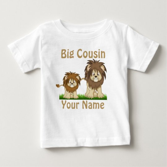 Big Cousin Lion Personalised T-shirt