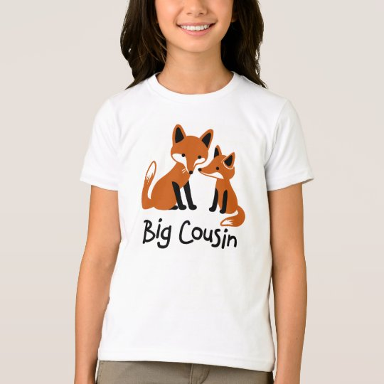 Big Cousin - Mod Fox family announcement t-shirts
