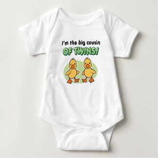 Big Cousin of twins gifts - Ducks Baby Bodysuit