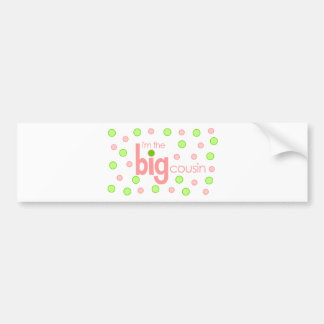 Big cousin polkadot T-shirt Bumper Stickers