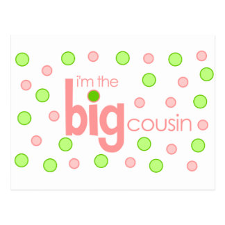 Big cousin polkadot T-shirt Postcard