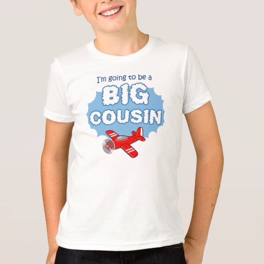 Big Cousin to be - Aeroplane announcement T-Shirt
