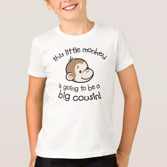 Big Cousin to be - Monkey Face T-Shirt