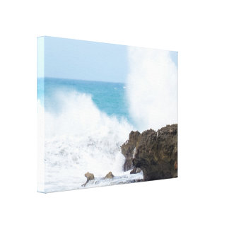 Big Crashing Waves   Atlantic Ocean Canvas Print