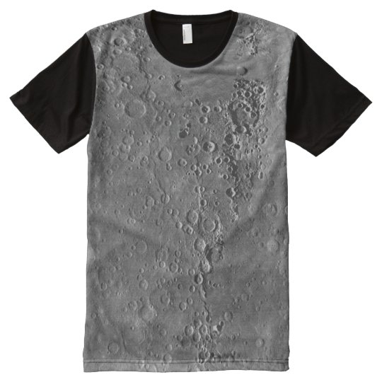 Big Craters Surface Planet Moon All-Over Print T-Shirt