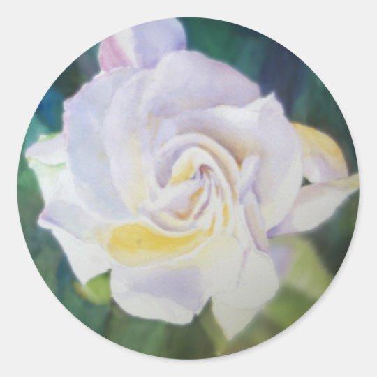 Big Creamy White Gardenia Classic Round Sticker