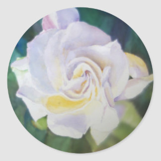 Big Creamy White Gardenia Round Sticker