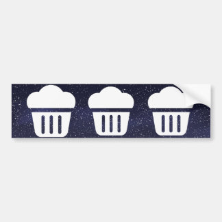 Big Cupcakes Pictograph Bumper Sticker