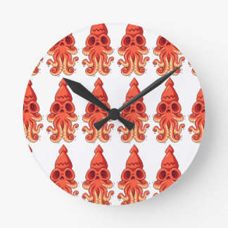 Big Cute Octopus Round Clock