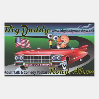 Big Daddy Road Show Podcast Stickers! Rectangular Sticker