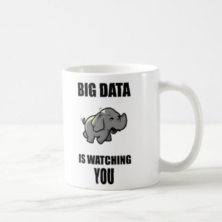 Big data is watching you basic white mug
