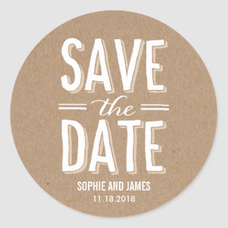 Big Day Save The Date Sticker