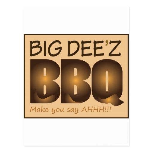 Big Dee'z BBQ Gear Postcard