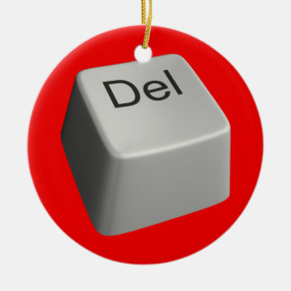 Big delete key christmas ornament