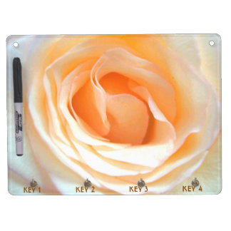 BIG DELICATE ROSE, SOFT PEACH YELLOW ROSE BOARD Dry-Erase WHITEBOARD