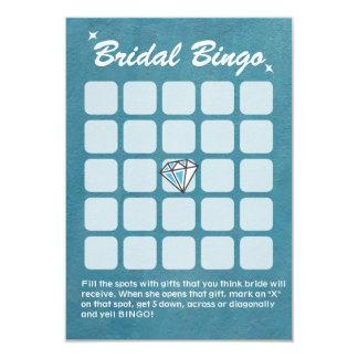 Big Diamond Teal Bridal Shower Bingo Cards