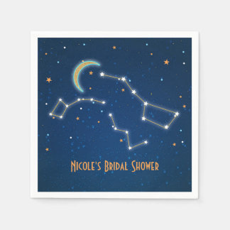 Big Dipper Star Gazing Constellation Celestial Disposable Napkin