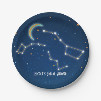 Big Dipper Star Gazing Constellation Celestial Paper Plate