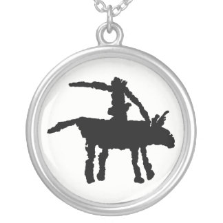 Big Dog Arroyo Segundo, Texas Silver Plated Necklace