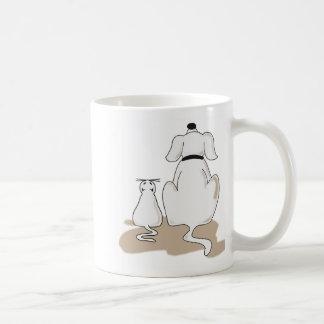 Big dog, fat cat mug