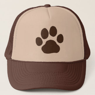 Big Dog Paw Print Trucker Hat