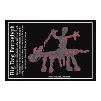 Big Dog Petroglyph Photo Art