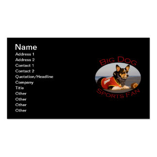 Big Dog, Sports Fan Pack Of Standard Business Cards