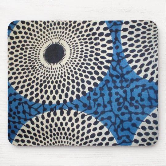 Big Dot circle African Print Mouse pad