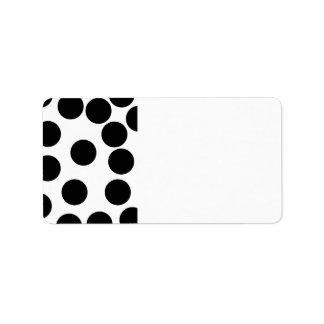 Big Dots. Black and White Pattern. Label
