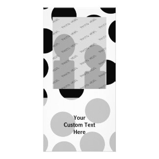Big Dots. Black and White Pattern. Photo Cards