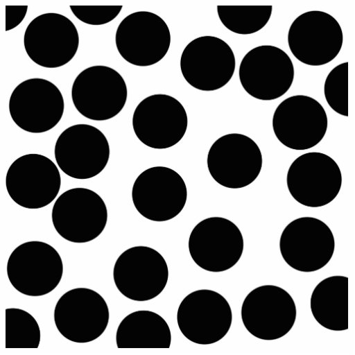 Big Dots. Black and White Pattern. Photo Sculptures