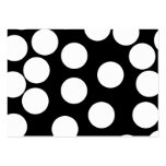 Big Dots in Black and White. Large Business Cards (Pack Of 100)