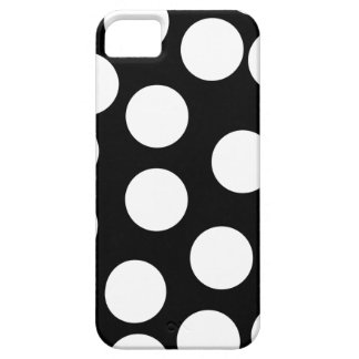 Big Dots in Black and White. iPhone 5 Cases