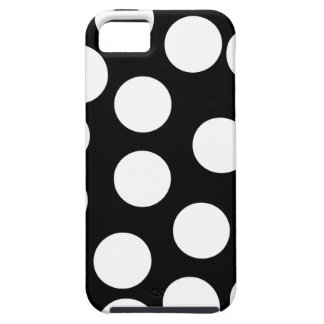 Big Dots in Black and White. iPhone 5 Covers