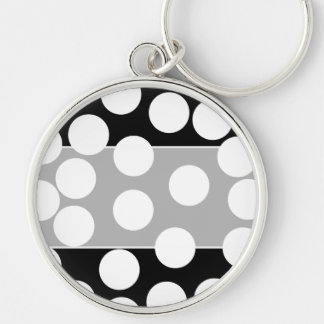 Big Dots in Black and White. Key Chain
