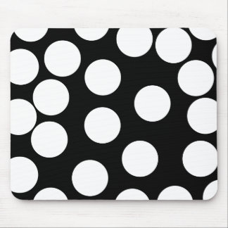 Big Dots in Black and White. Mouse Mat