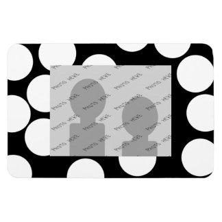 Big Dots in Black and White. Rectangular Photo Magnet