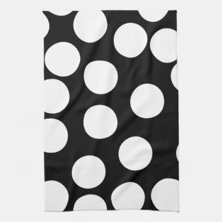 Big Dots in Black and White. Tea Towel