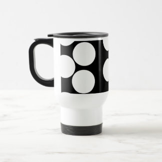 Big Dots in Black and White. Travel Mug