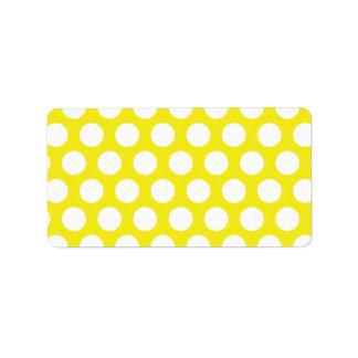 Big Dots on Yellow Design Address Label