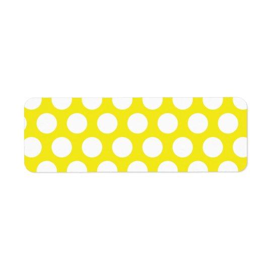 Big Dots on Yellow Design Return Address Label