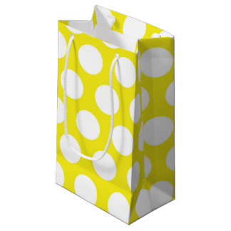Big Dots on Yellow Design Small Gift Bag