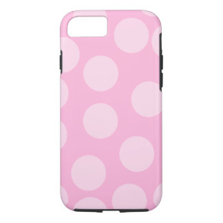 Big Dots Pattern. Pale Pink and Candy Pink. iPhone 8/7 Case