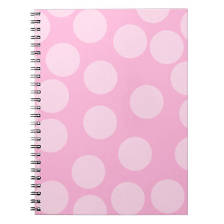 Big Dots Pattern. Pale Pink and Candy Pink. Notebook