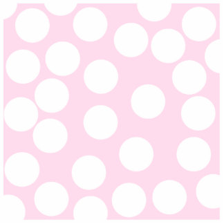 Big Dots Pattern. Pale Pink and White. Photo Cut Outs